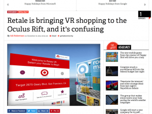 Retale is bringing VR shopping to the Oculus Rift